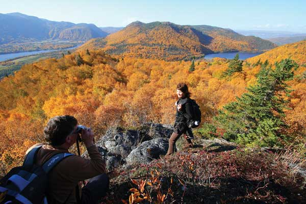 The fall brilliance at Wild Cove Pond, along the Appalachian Trail, makes a great photographic backdrop.