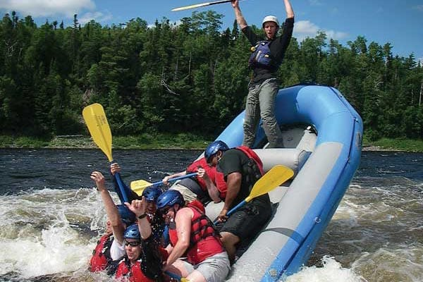 Whitewater rafters whoop it up on the Exploits River, NL