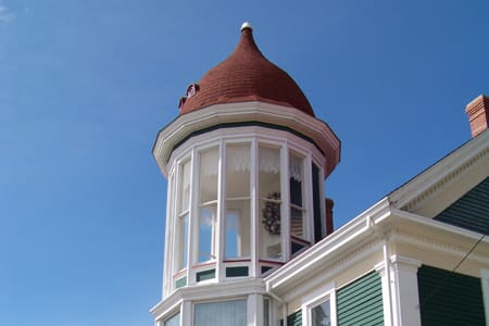 The stunning cupola at the Lovitt House gift shop in Yarmouth, NS