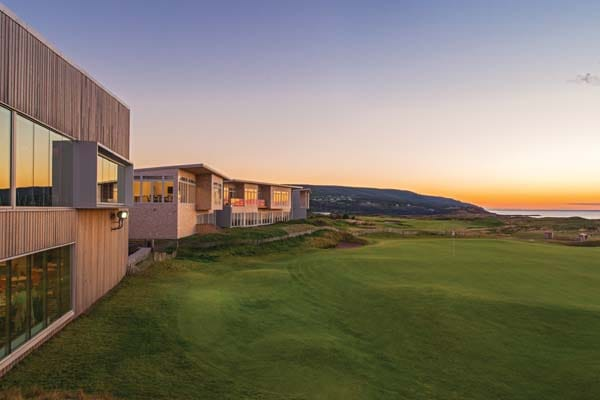 Awe-inspiring views from Panorama restaurant and Cabot Links Lodge.