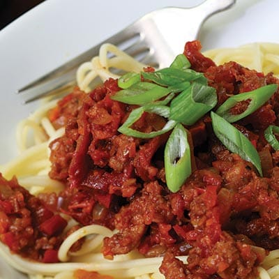 Hot Italian Sundried Tomato Pasta