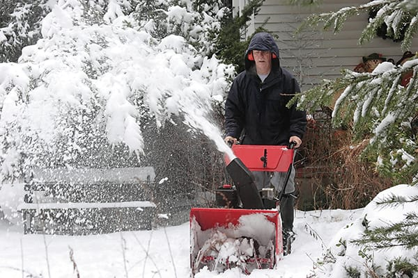 Prepare to become popular with your neighbours if you invest in a gas-powered snow blower.