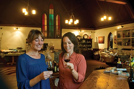 Tasting at Avondale Sky Winery in Nova Scotia's Annapolis Valley