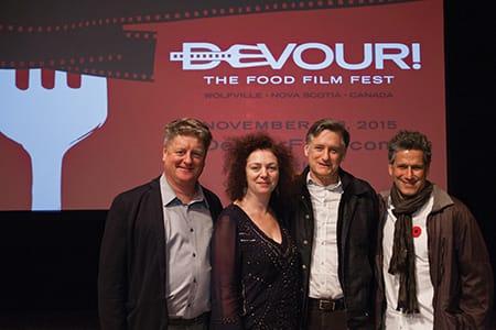 Michael Howell, Lia Rinaldo, Bill Pullman and Bob Blumer at Devour!