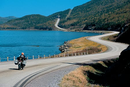 The open road beckons in Newfoundland.