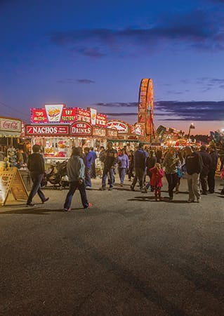 Carnival midway at the Cumberland County Fair.