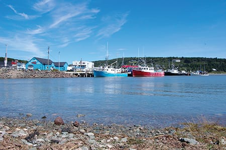 Picturesque Alma, NB, is a working fishing village. Each year for the past four years, residents celebrate the fall fleet launch—the beginning of lobster season—with food, music and fireworks.