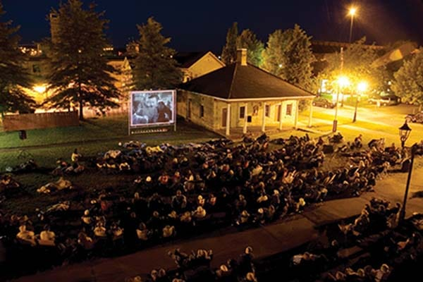 Film lovers flock to Barracks Square in the Historic Garrison District to watch a classic flick under the stars.