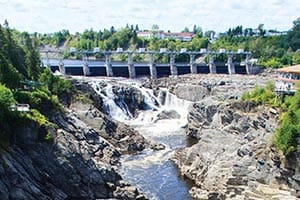With its 75-foot drop, Grand Falls is the largest waterfall east of Niagara Falls.