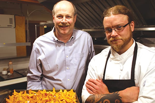 Vince McCarthy, owner of Chanterelles Restaurant and Sugar Hill Inn, in Norris Point, with chef Jay Stuckless.