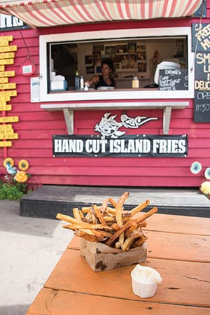 Crispy fries with aioli at The Chip Shack, Charlottetown.