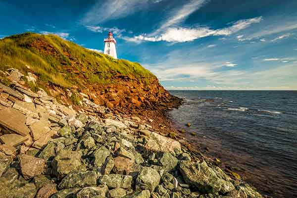 One of the many iconic lighthouses on Prince Edward Island