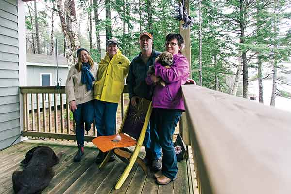 On a recent rainy weekend, cottagers Marilyn Smulders, Peter McLaughlin, Glen and Chrissy Horton swapped Trading Post stories.
