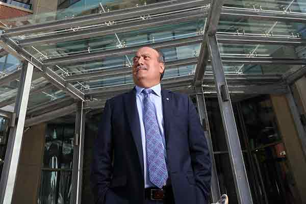 Wadih Fares in front of the Trillium building in downtown Halifax, NS.