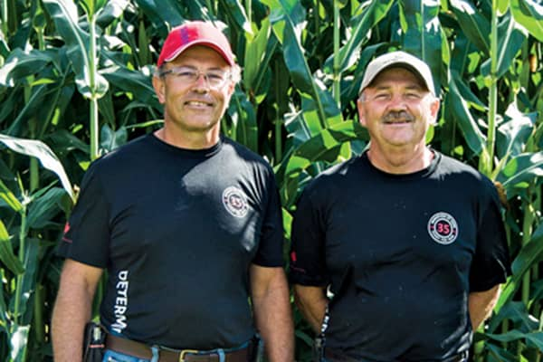 Brothers Tom (left) and Chip (right) are the fourth generation of hunters to run the family farm.