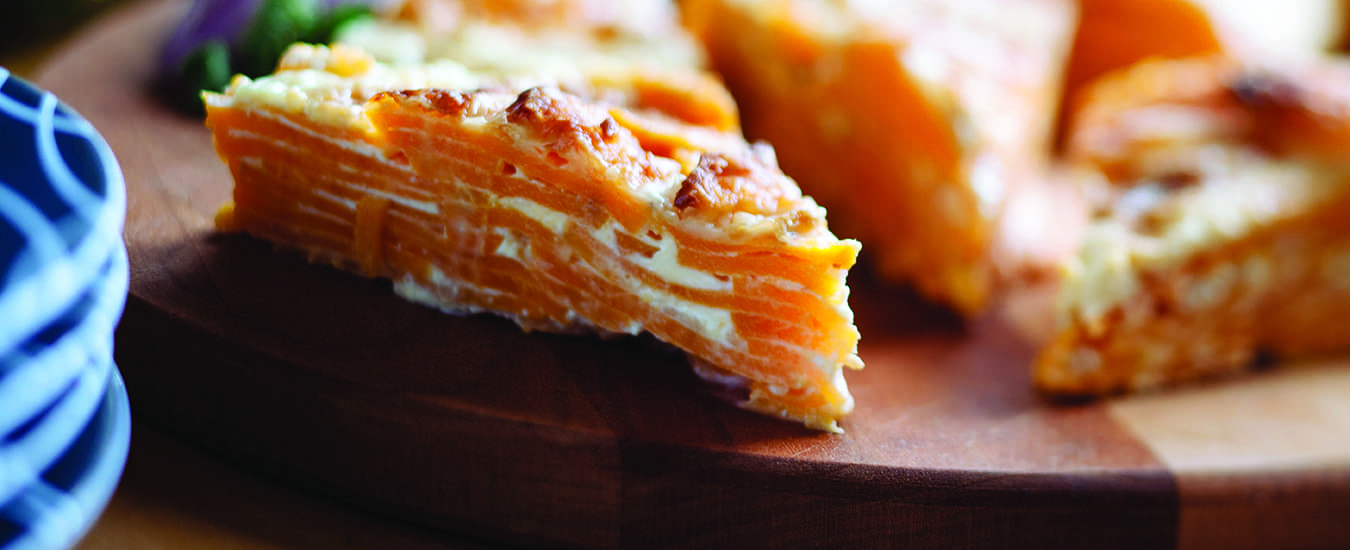 Sweet Potato Dauphinoise—easy and delicious.