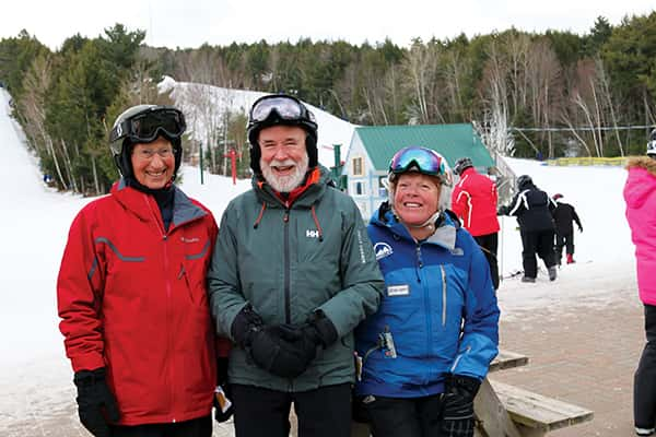 Jimmy Clothier and Allan Jost of SASC at Martock with senior instructor Johanna Redden.