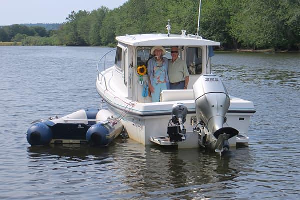 Alice & Bob anchored at Hampton.