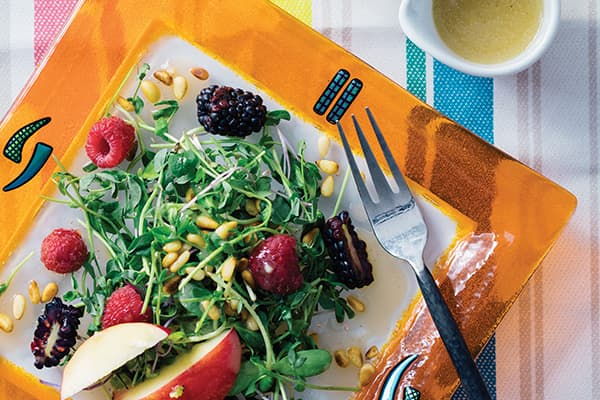 Add some zip to your salads with Hard Cider Vinaigrette.