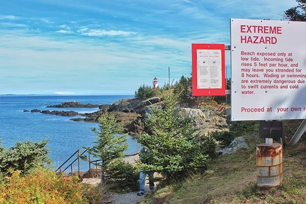 Head Harbour Lightstation is accessible only at low tide, Campobello Island, NB.