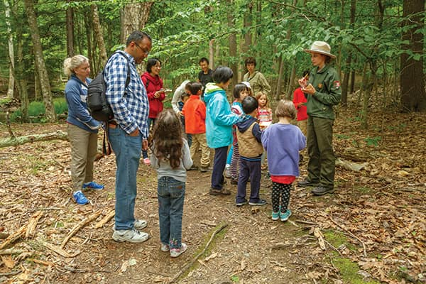 Acadia National Park offers many free ranger programs for kids.