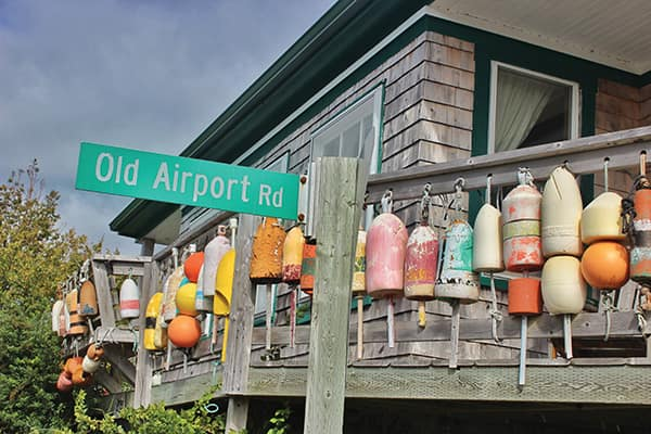 Buoys on a deck on Grand Manan Island