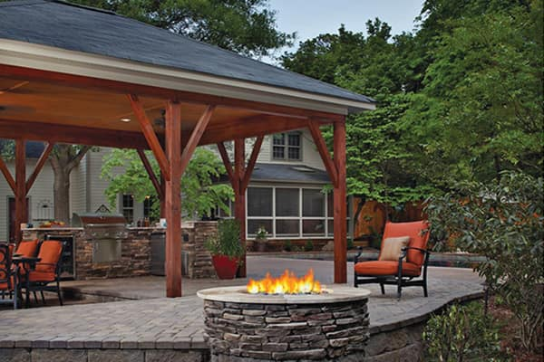 Built-in fire pits for the patio area are another popular alternative for zone heating.