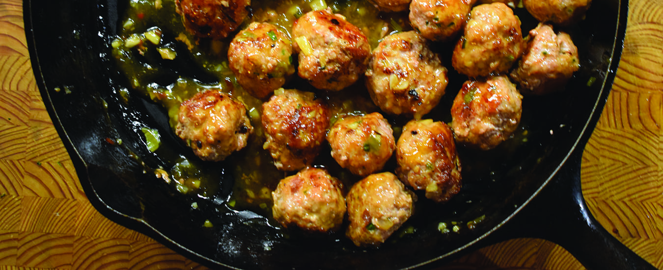 Tony's Asian meatballs