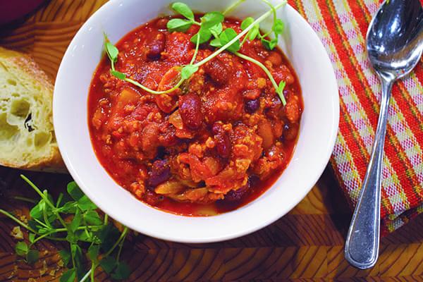 Home style pork chilli.