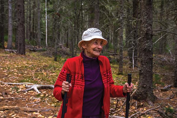 Sue Tyler says by thinning, they left the best trees and opened up space to see what would grow naturally.