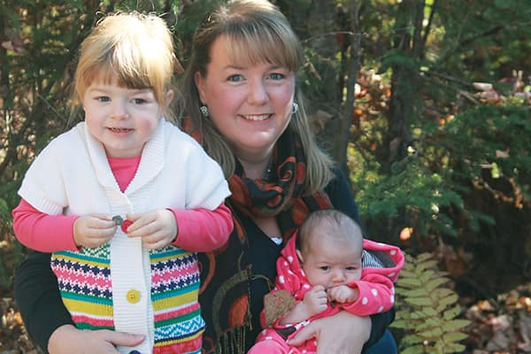 "Jennifer Sarault with her two daughters. ""I want all women to know post-partum depression is real and you don't have to try to cope alone."""