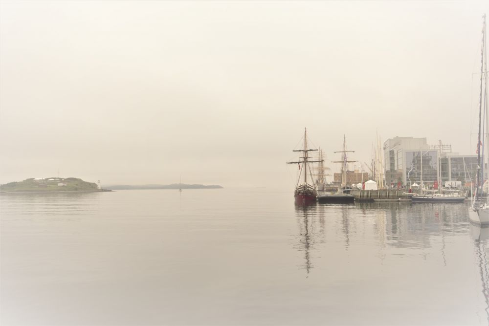 """Tall Ships in the Halifax Fog"", by Kelly Donovan. Taken at Halifax Waterfront."