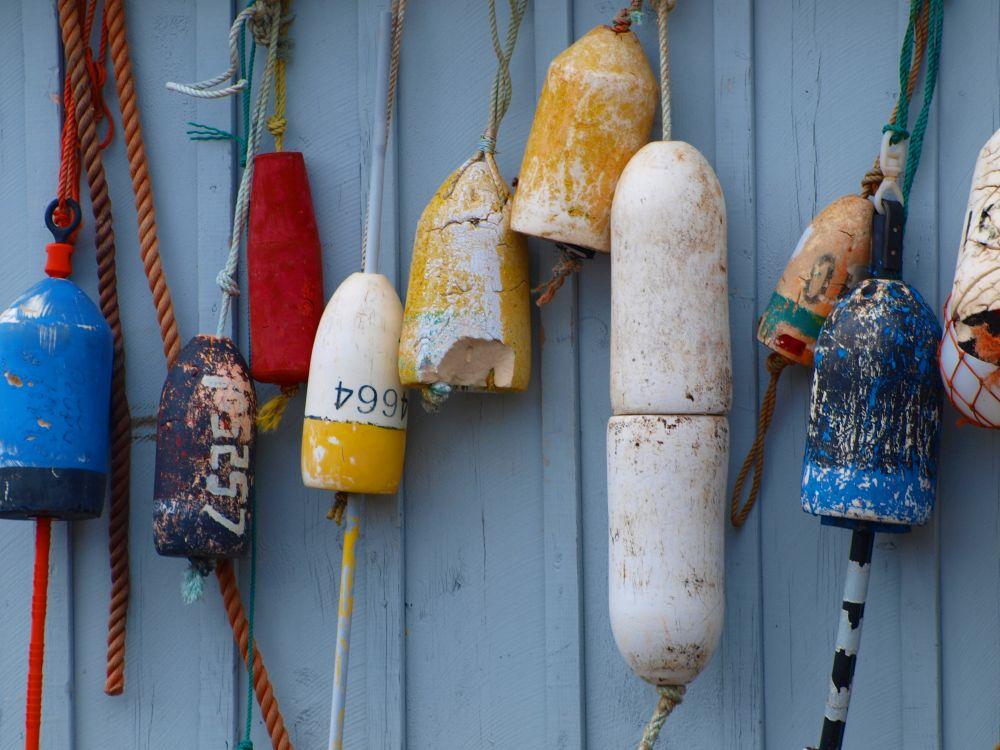 """buoys"", by Nancy Young. Taken at Annapolis Royal, NS."