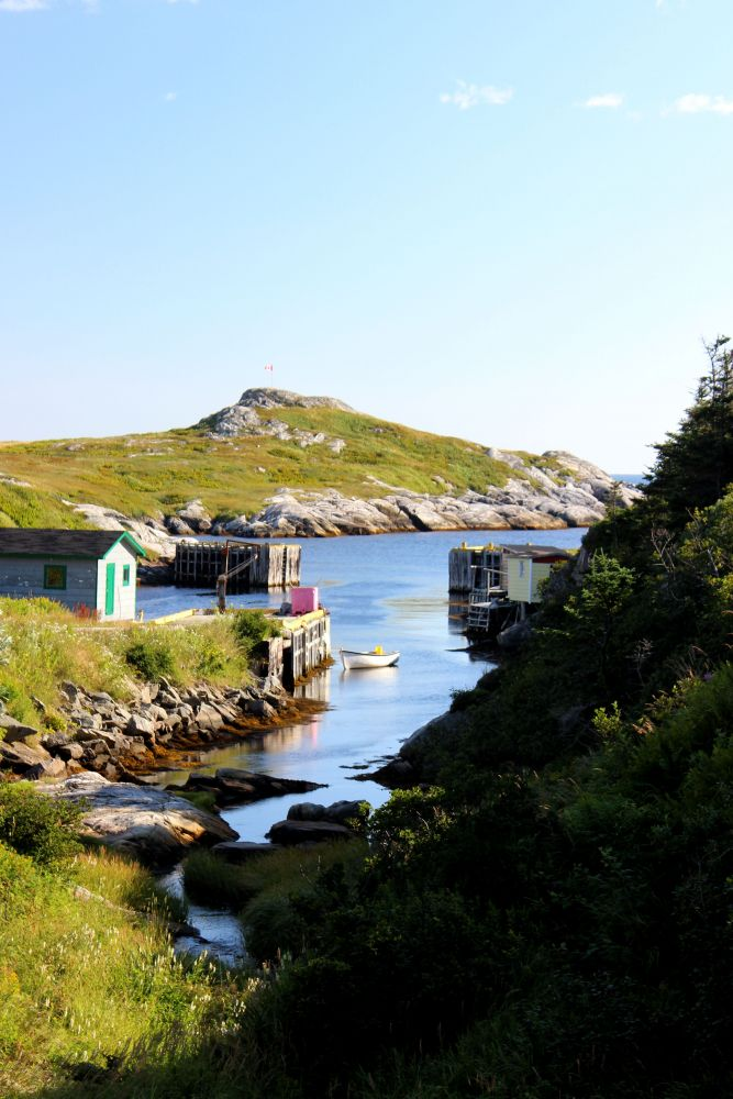 """Pretty Harbour"", by Carla Johnston. Taken at Fox Roost, NL."