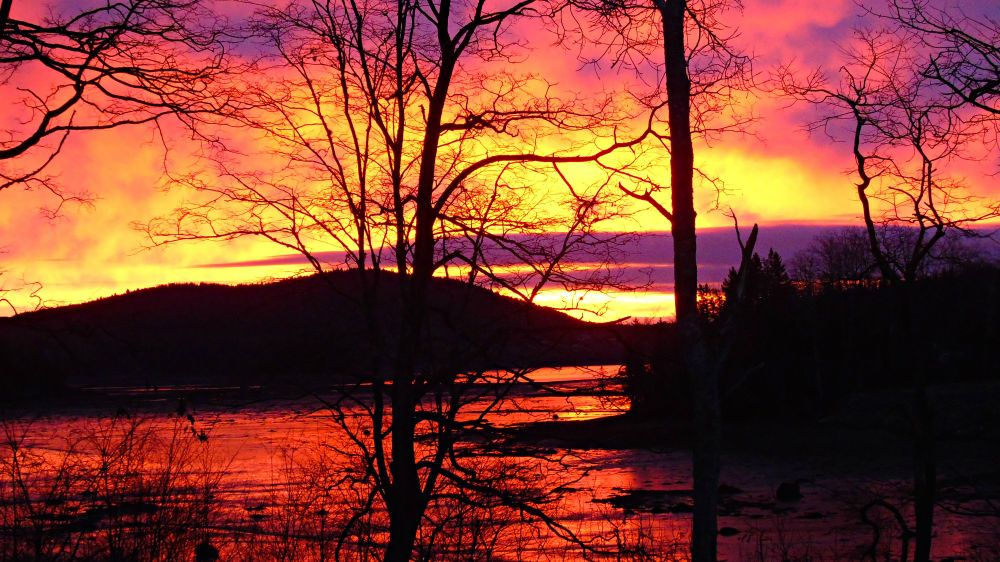 """""""Sunrise On The Mud Flats"""", by Elva Young. Taken at Oak Haven, N.B.."""