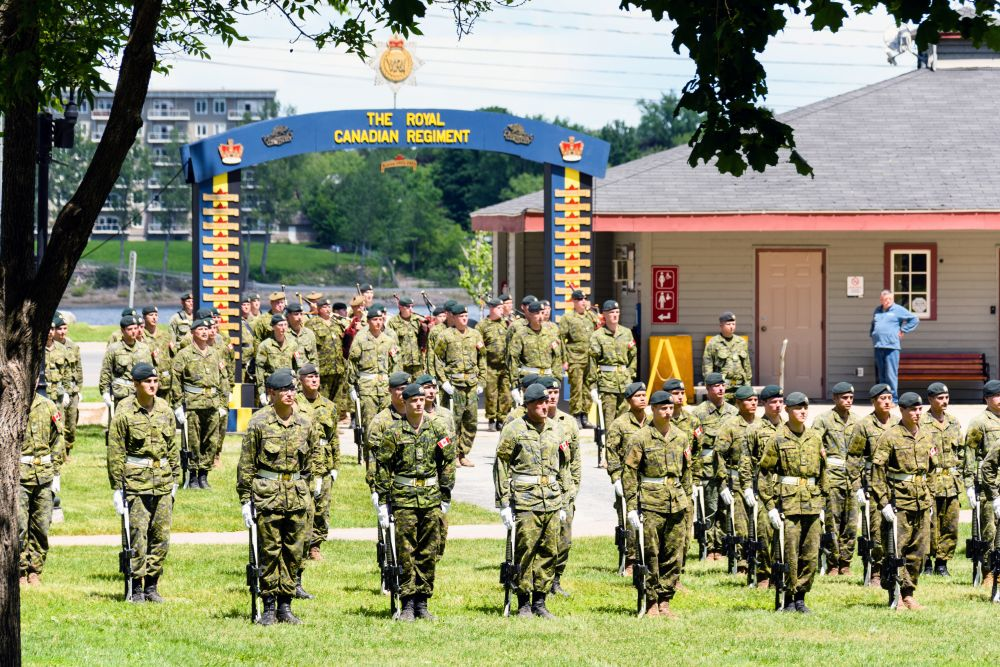 """2RCR Change of Command practice"", by Jason Jeandron. Taken at Fredericton."