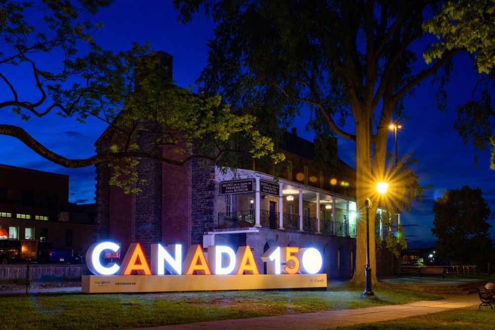 """Canada 150 at Officer's Square"", by Jason Jeandron. Taken at Fredericton."