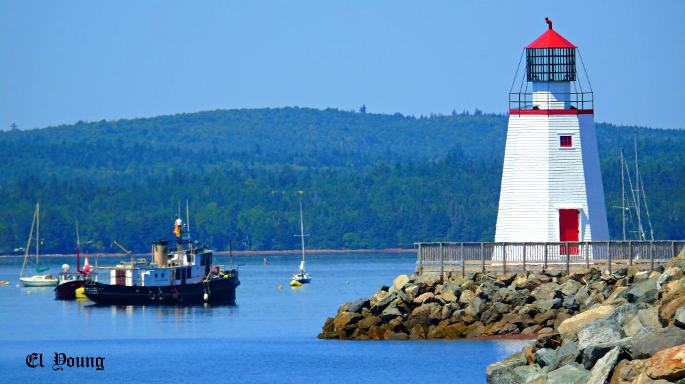 """Pendlebury Lighthouse"", by Elva Young. Taken at St. Andrews, N.B.."