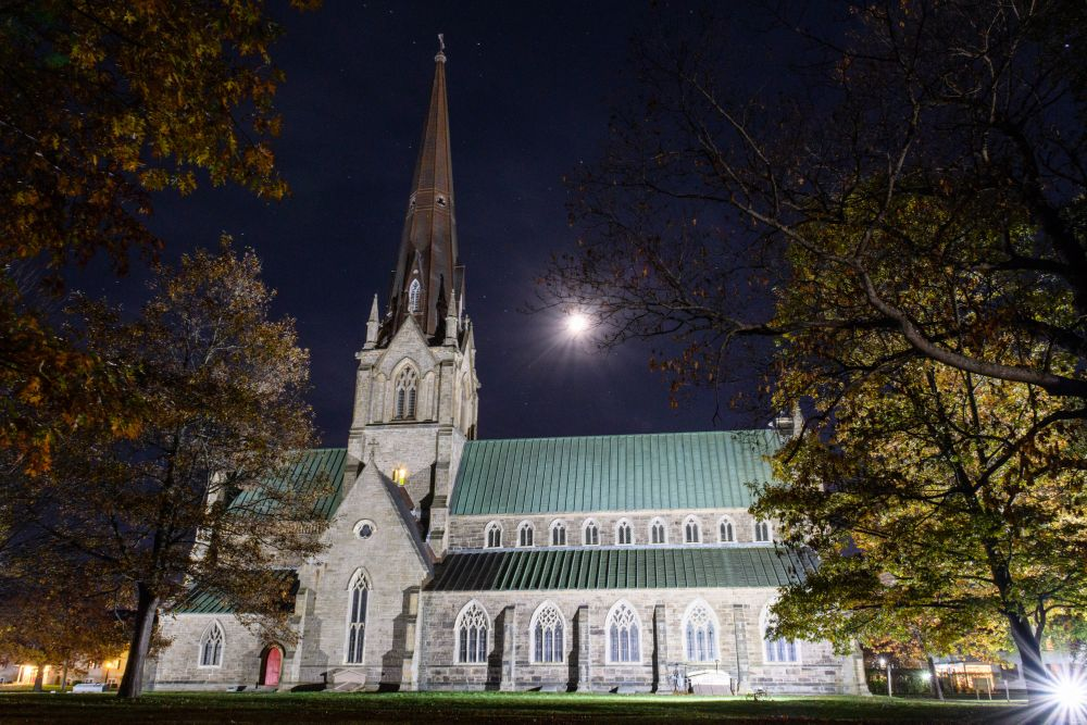 """""""Cathedral at night"""", by Jason Jeandron. Taken at Fredericton."""