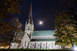 Cathedral at night by