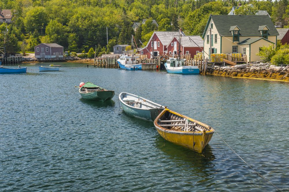 """""""Rowing Trio"""", by Ray Strickland. Taken at Northwest Cove, NS."""