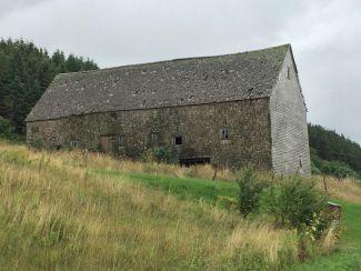 Stone barn by
