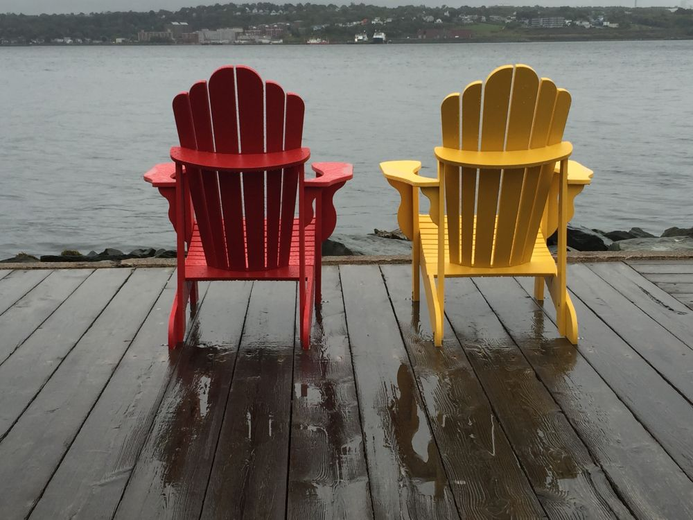 """""""Rainy Day on the wharf"""", by carolyn musgrave. Taken at Hailifax Harbour."""