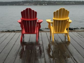 Rainy Day on the wharf by