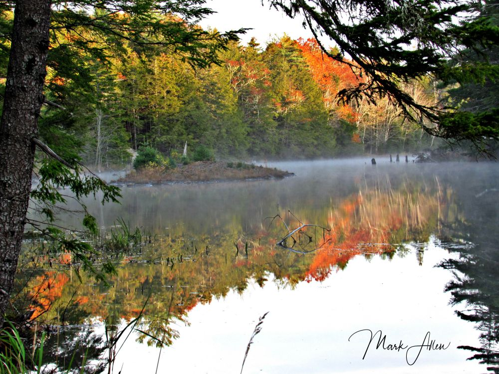 """Salmon Hole Dam"", by mark allen. Taken at Windsor NS."