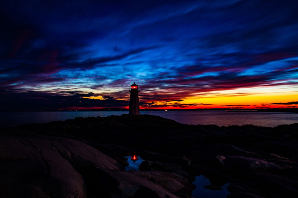 """""""Lighthouse Reflection"""", by Kenneth Stronach. Taken at Peggy's Cove."""