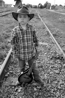 Trying to look tough like Johnny Cash by