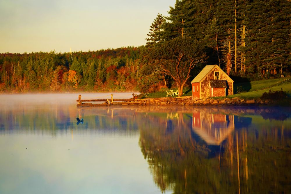 """'MIST UPON THE MORNING''"", by BLAIR LANDRY. Taken at EVANSTON, N.S.."