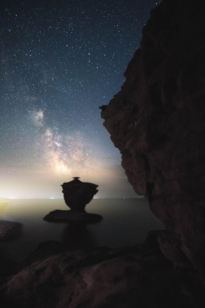 """Dreamy night on the beach."", by Blake Baxter. Taken at Thunder Cove Beach, P.E.I.."