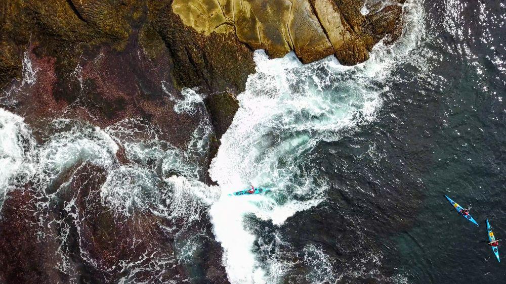 """Enjoying the coast by kayak"", by Christopher Lockyer. Taken at Peggys Cove."